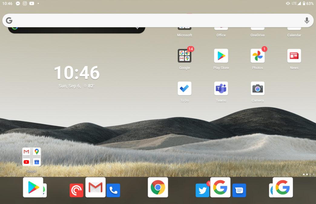 Microsoft Surface Duo bug Nova launcher