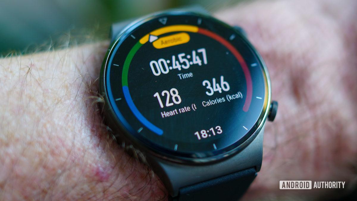 Huawei Watch GT 2 Pro workout heart rate 128
