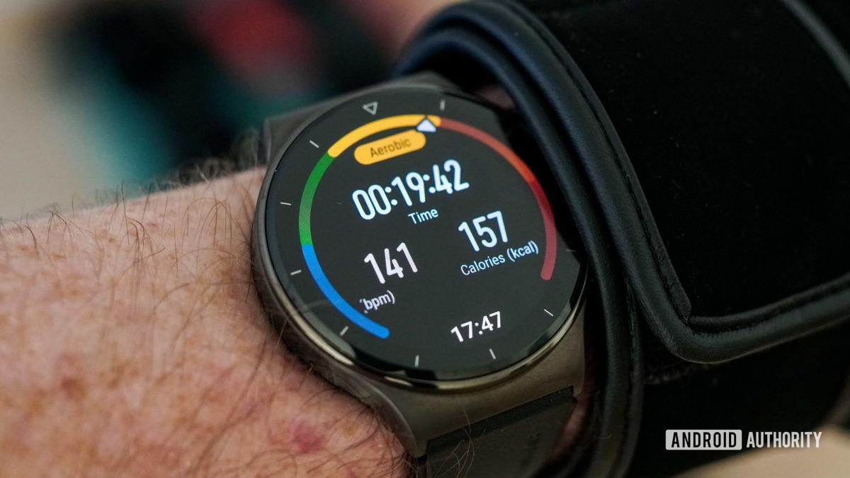 Huawei Watch GT 2 Pro workout heart rate 141