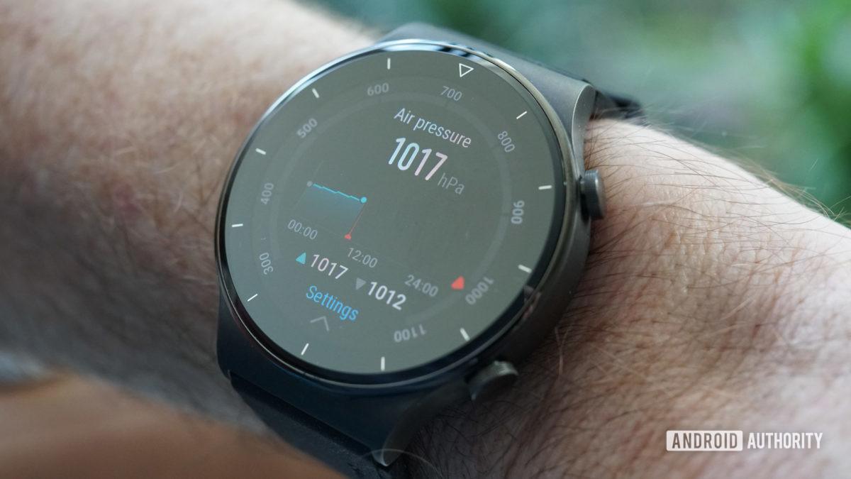 Huawei Watch GT 2 Pro barometric pressure