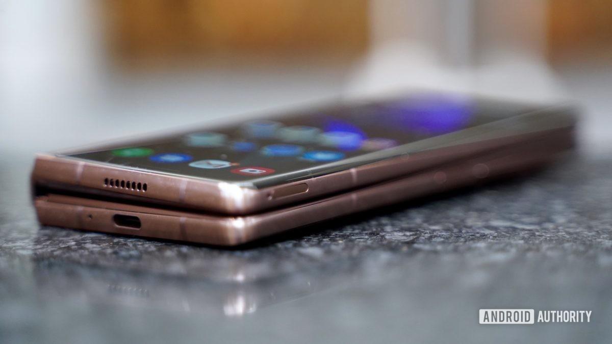 Samsung Galaxy Z Fold 2 right profile