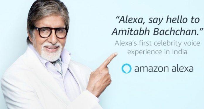 Alexa's next voice is Bollywood star Amitabh Bachchan