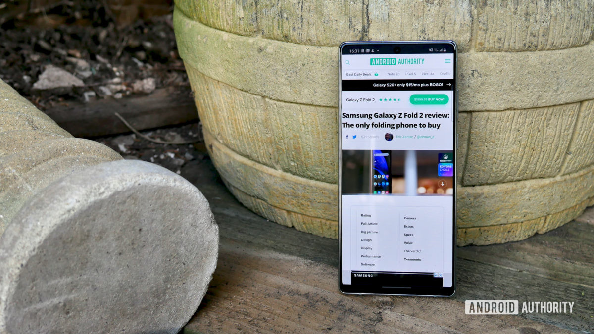 samsung galaxy note 20 review front