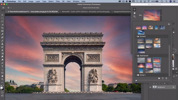 Photoshop will soon allow you to swap out boring skies automatically using A.I.