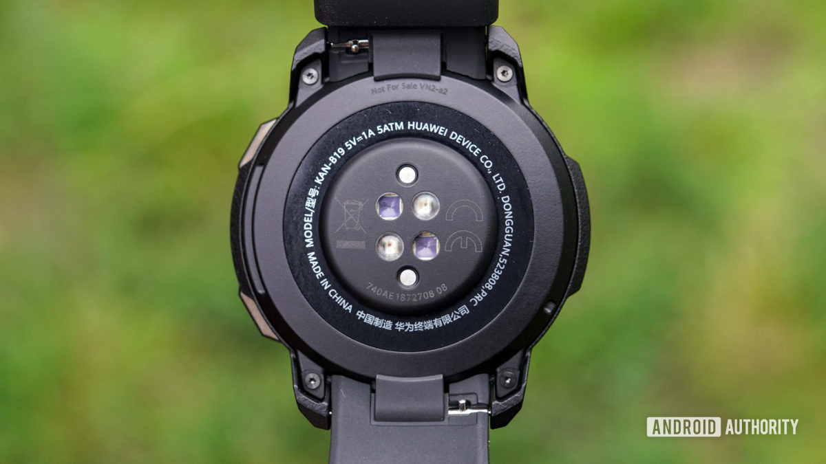 Honor Watch GS Pro heart rate sensors and pogo pins