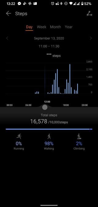 Huawei Health app step counter