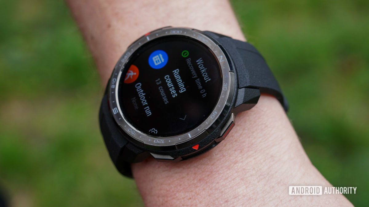 Honor Watch GS Pro workout mode running courses