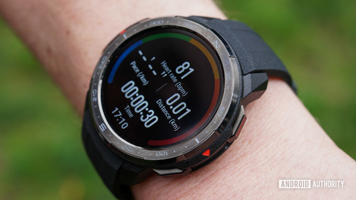 Honor Watch GS Pro activity tracking screen