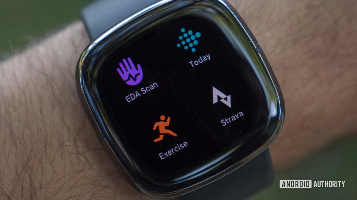 fitbit sense review apps exercise strava eda scan