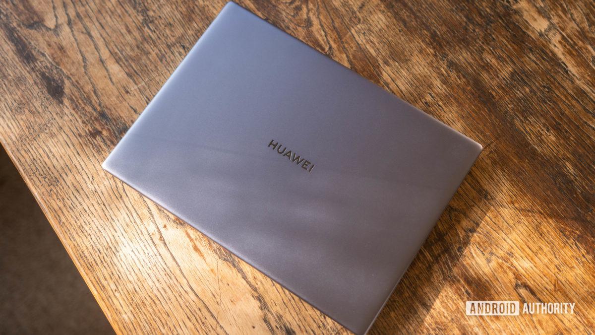 Huawei Matebook 14 2020 AMD rear shell wide shot
