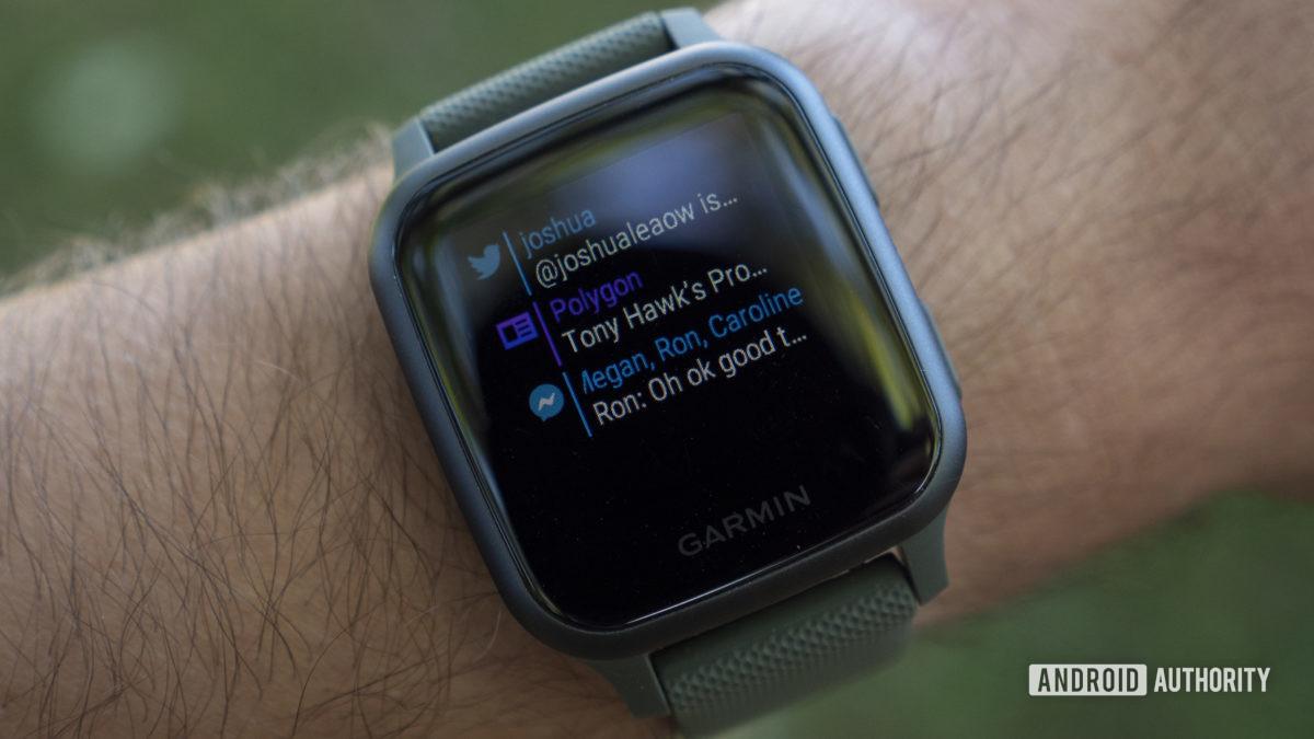 garmin venu sq review smartphone notifications