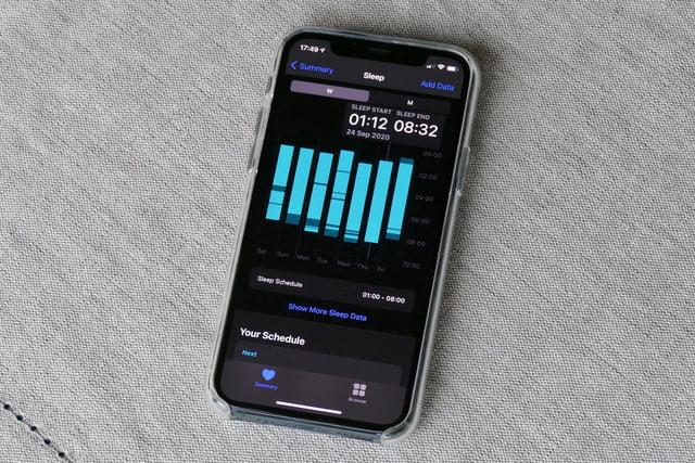 apple watch se review sleep data app