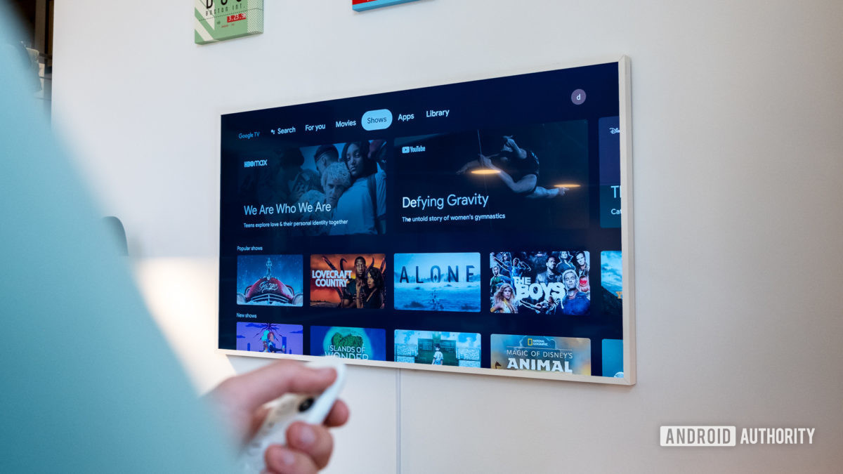 Google Chromecast with Google TV shows tab