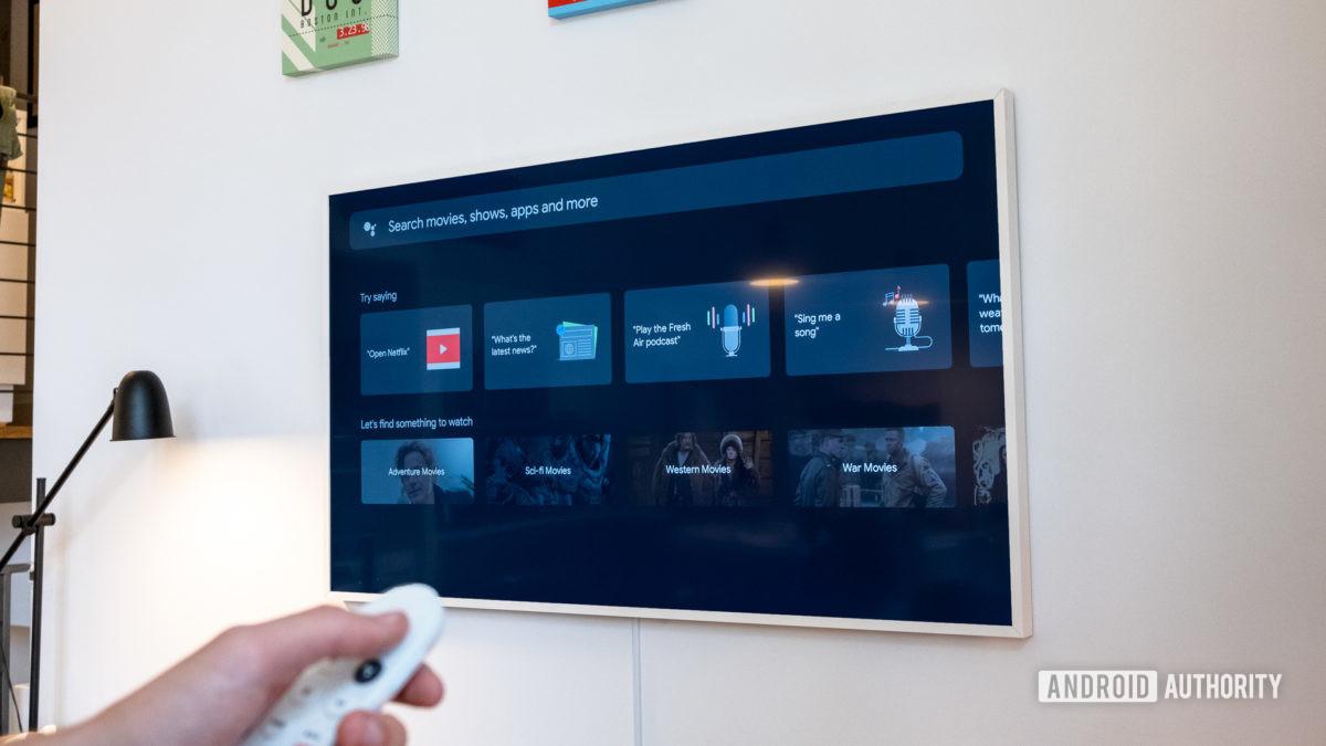 Google Chromecast with Google TV search tab