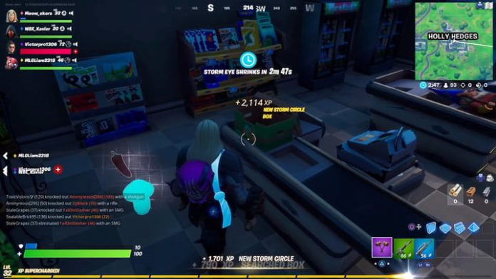 Fortnite season 4 week 6 challenge guide: Consume foraged items at Holly Hedges
