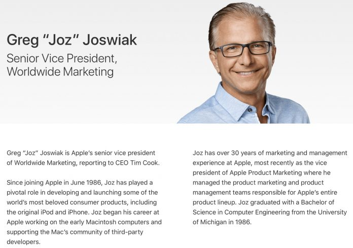Greg Joswiak Added to Apple's Exec Site as Phil Schiller Transitions to 'Apple Fellow'