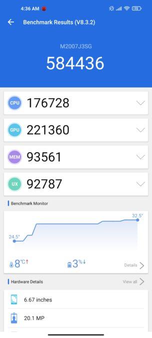 Xiaomi Mi 10T Pro antutu