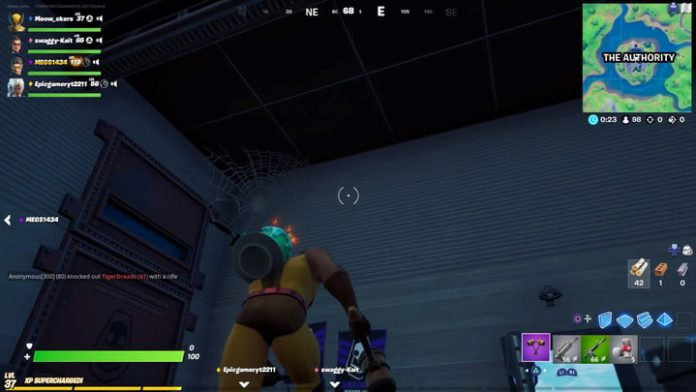 Fortnite season 4 week 7 challenge guide: Destroying cobwebs at The Authority