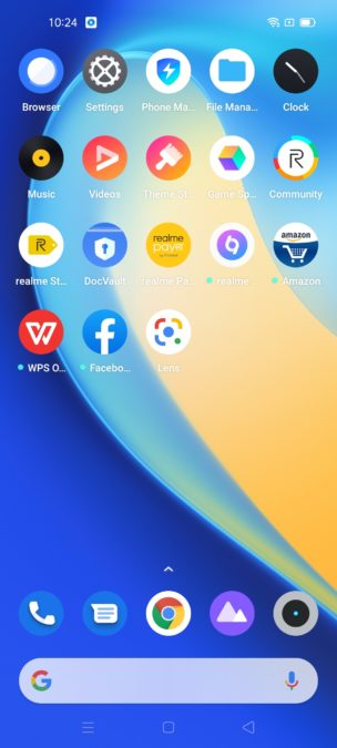 Realme 7 Pro bloatware