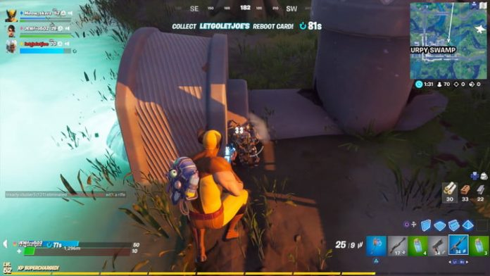 Fortnite season 4 week 8: Eliminating opponents while jumping or falling
