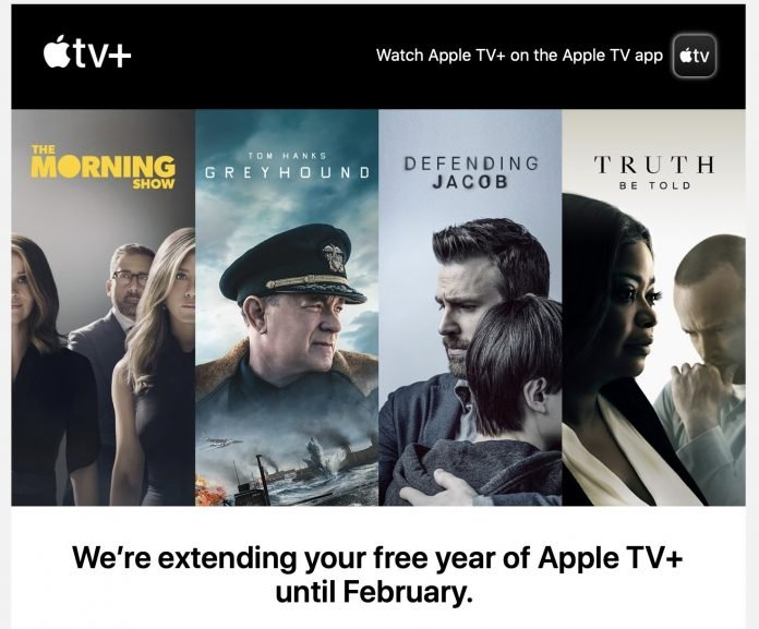 Apple Sending Emails Letting Apple TV+ Subscribers Know About Extended Trial Access