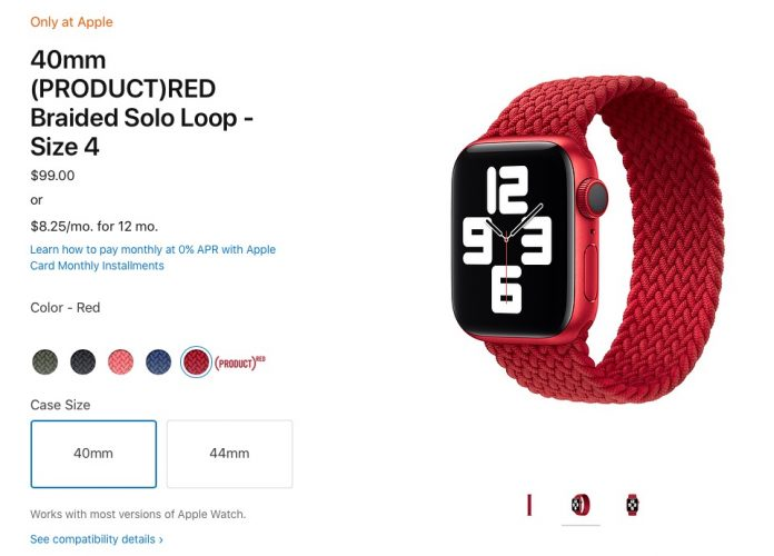 Apple Watch PRODUCT(RED) Solo Loop and Braided Solo Loop Bands Now Available