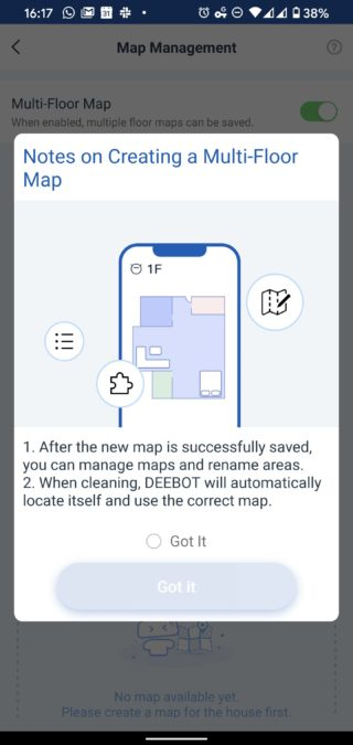 Ecovacs Home mapping meulti floor map tips