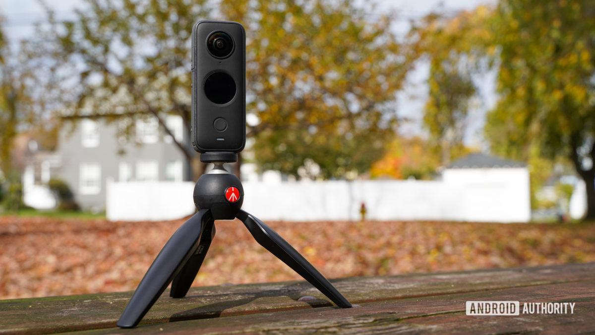 Insta360 One X2 on tripod 1