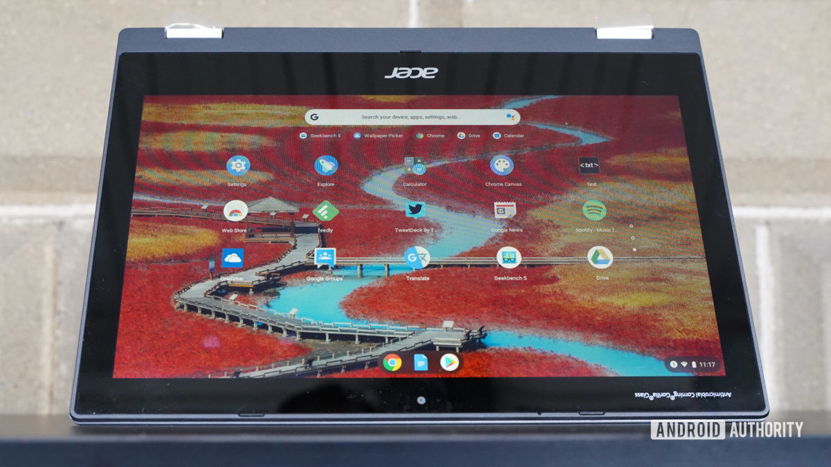 Acer Chromebook Spin 311 tent