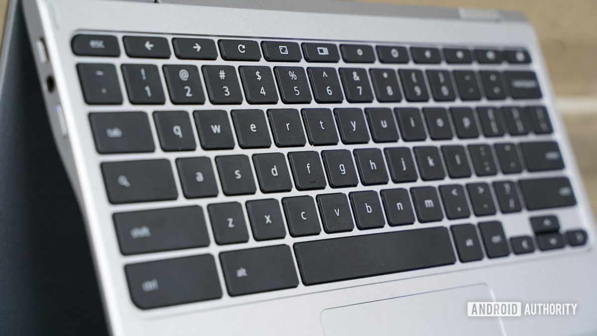 Acer Chromebook Spin 311 keyboard closeup