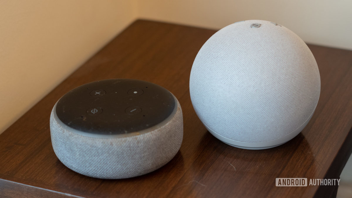 Echo Dot 2020 fourth generation comparison with older Echo Dot