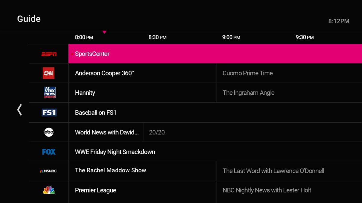 channel guide