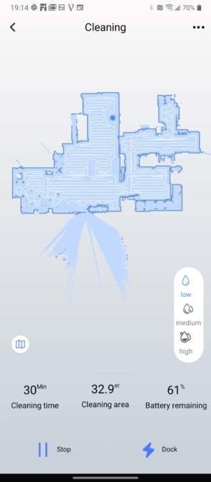 WeBack app Tesvor S6 robot vacuum cleaning map