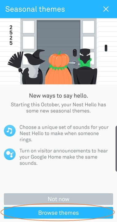 How to enable Halloween sounds on your Nest Hello video doorbell