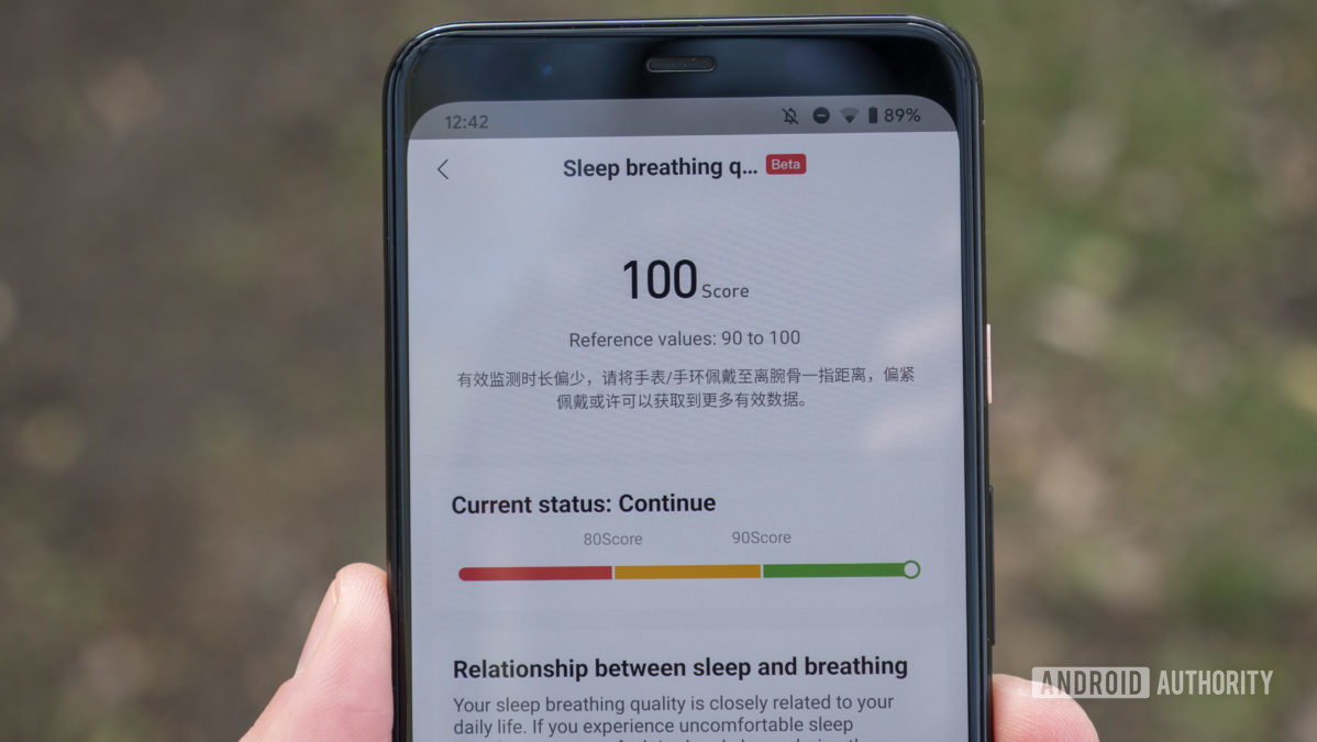huami amazfit gts 2 and gtr 2 review zepp app sleep breathing quality