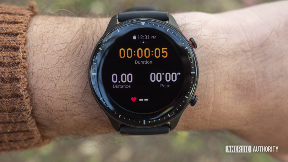 huami amazfit gtr 2 review workout screen