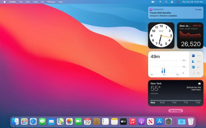 How to use Big Sur's Notification Center widgets