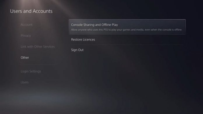 How to gameshare on a PS5