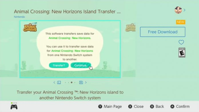 Animal Crossing New Horizons: How to transfer save data