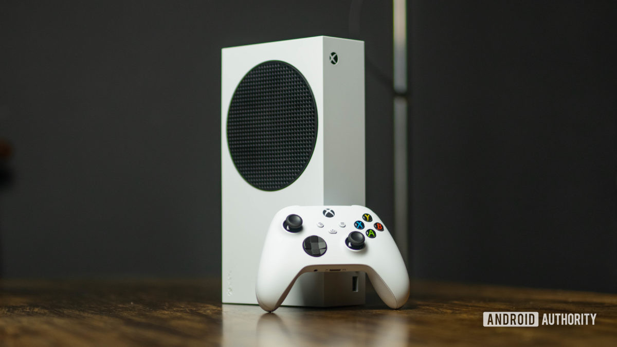 Xbox Series S console and controller hero shot