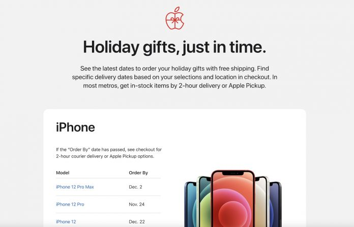 Apple Lists Deadlines for Ordering Holiday Gifts, Offers Discounted Same-Day Delivery on In-Store Items