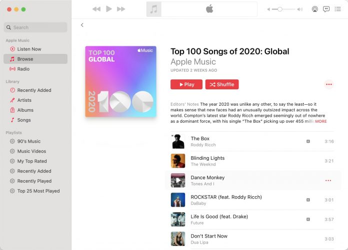 Apple Shares 2020 Apple Music Highlights and Top Charts