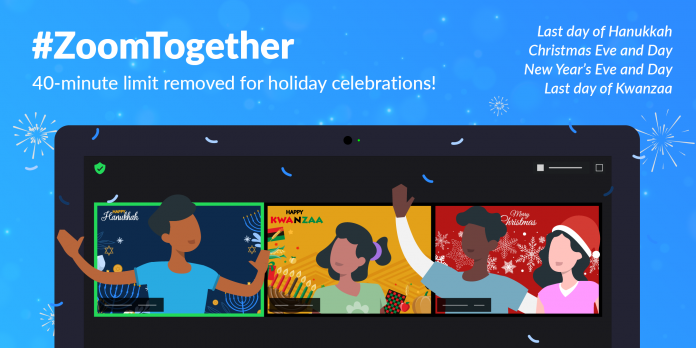 Zoom removes 40 minute limit for Hanukkah, Christmas, New Year's, and Kwanzaa holidays