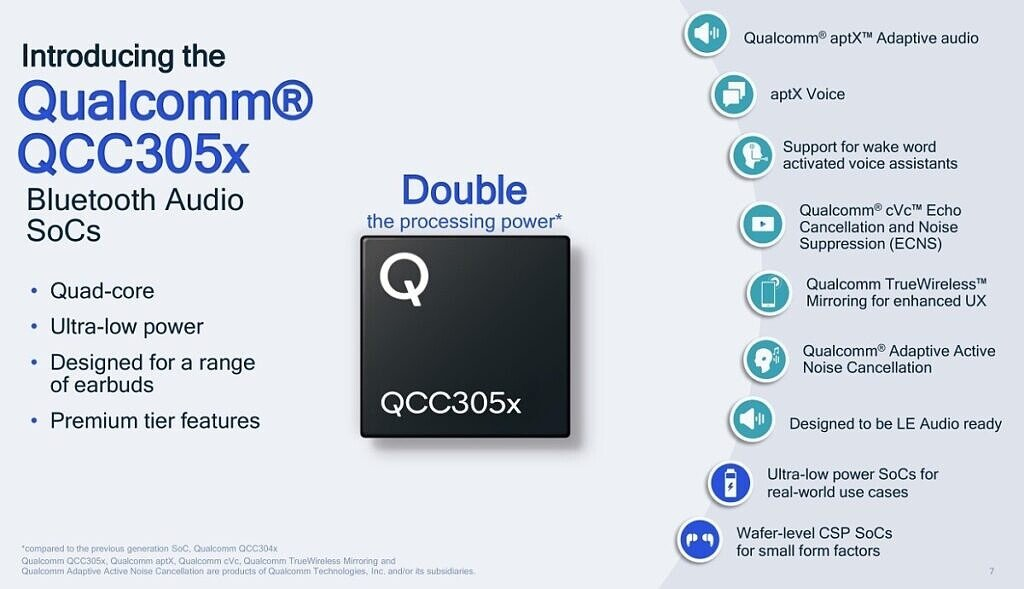 Qualcomm QCC305X features
