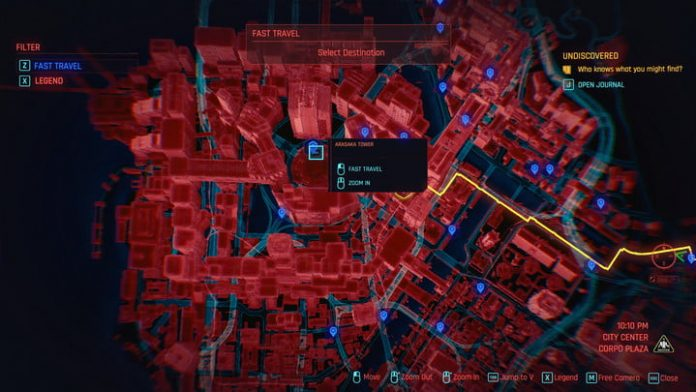 How to fast travel in Cyberpunk 2077