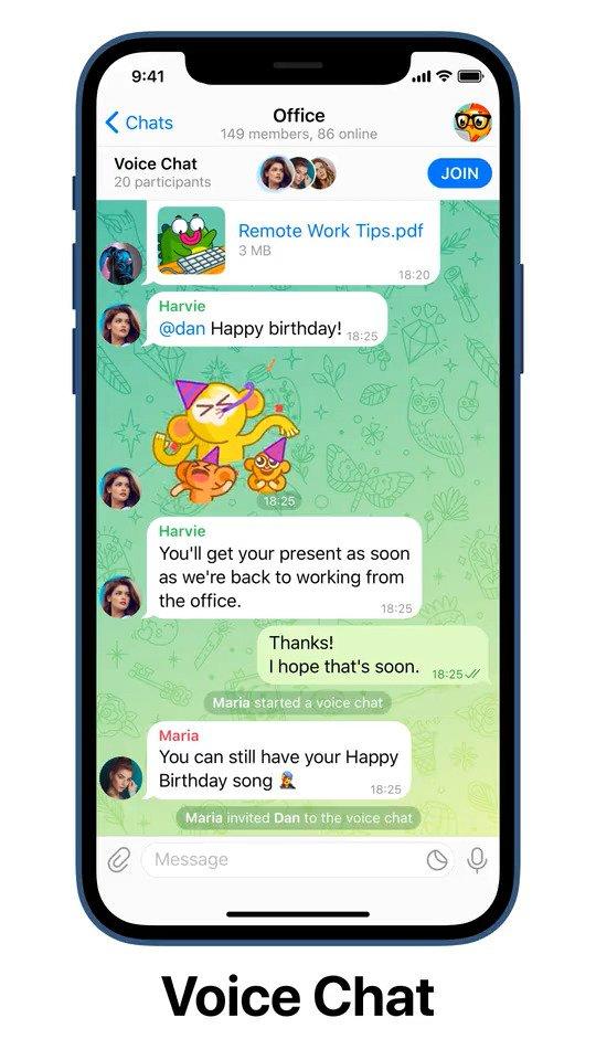 Telegram Voice Chat