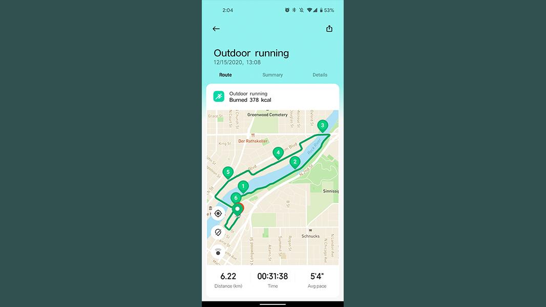 xiaomi mi watch review gps outdoor running performance