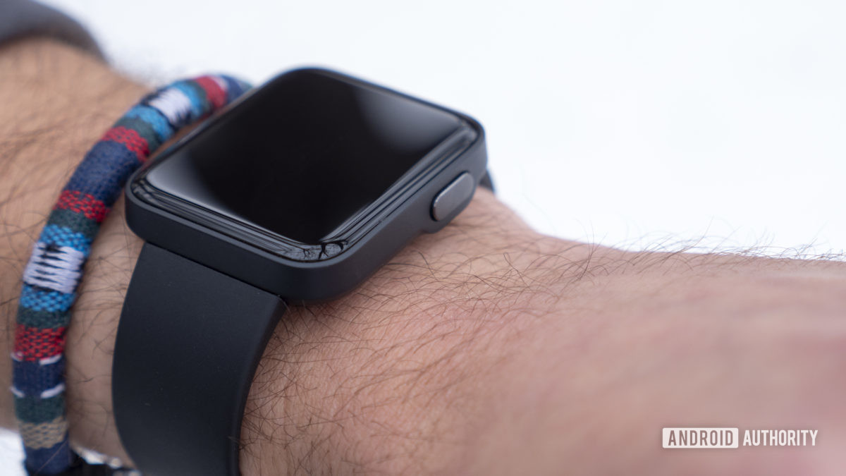 xiaomi mi watch lite review on wrist design physical side button