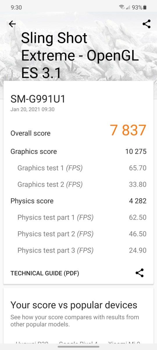 Samsung Galaxy S21 Benchmark 3DMark