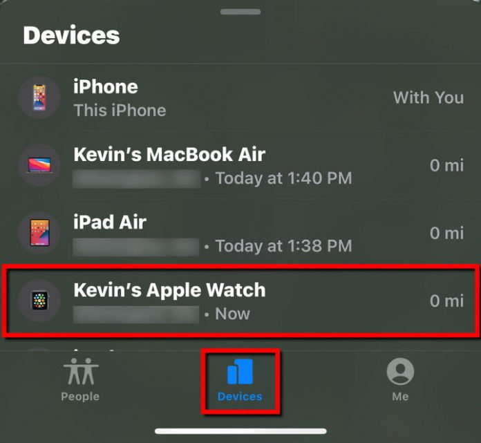 How to find your Apple Watch